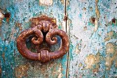 Antykwarski portal, szczegół Fotografia Stock