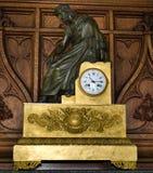 Antykwarski pozłacany metalu i brązu salopy zegar zdjęcie royalty free