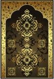 antykwarski projekta złota ottoman Fotografia Royalty Free