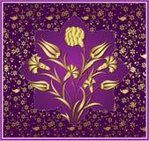 antykwarski projekta złota ottoman Obrazy Stock