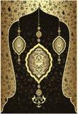 antykwarski projekta złota ottoman Fotografia Stock