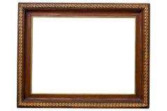 antykwarski ramowy drewniany Obrazy Royalty Free