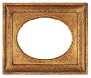 antykwarski ramowy owalny obrazek Zdjęcia Royalty Free