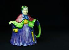 Antykwarski rocznik starej kobiety Teapot Obraz Royalty Free