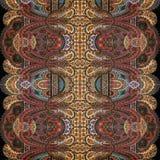 Antykwarski Rocznika Paisley hindusa tło Zdjęcie Stock