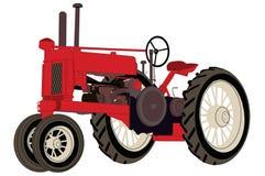 antykwarski rolny ciągnik ilustracja wektor