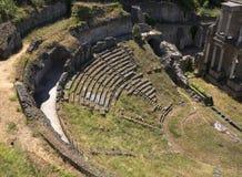 Antykwarski rzymski amfiteatr w Volterra zdjęcia royalty free