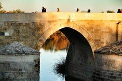 Antykwarski rzymski most w cordobie obrazy stock