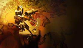 antykwarski sextant Obraz Stock