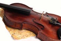 Antykwarski skrzypce obrazy stock