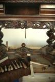 antykwarski stołowy drewniany Zdjęcia Royalty Free