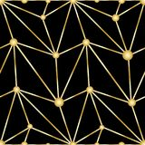 Antykwarski wektorowy bezszwowy złocisty art deco wzór Obraz Royalty Free