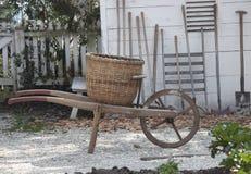 antykwarski wheelbarrow Fotografia Royalty Free
