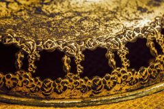 Antykwarski wieśniaka brąz kwiecisty i wzrastał ramy Obraz Royalty Free