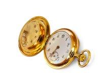 antykwarski złocisty zegarek Fotografia Royalty Free