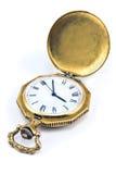 Antykwarski złocisty kieszeniowy zegarek Zdjęcia Stock
