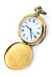 Antykwarski złocisty kieszeniowy zegarek Zdjęcie Royalty Free