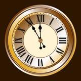 antykwarski zegar Zdjęcia Royalty Free