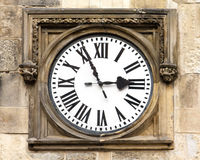 antykwarski zegarowy drewniany Zdjęcie Royalty Free
