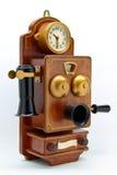 antykwarski zegarowy odosobnienia telefonu biel Zdjęcie Royalty Free