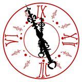 Antykwarski zegarowy wierza Obraz Royalty Free