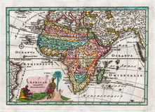 1730 Antykwarskich map Afryka Weigel Zdjęcie Royalty Free