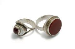 antykwarskich pierścionków srebny unus niezwykły Zdjęcia Royalty Free