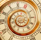 Antykwarskich starych ślimakowatych zegarów fractal abstrakcjonistyczna spirala Zegarka zegaru spirali tekstury fractal wzoru nie zdjęcia stock