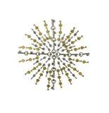 antykwarskich złocistych kluczy srebny starburst Zdjęcia Royalty Free