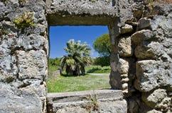 Antykwarskie budynek ruiny w Rhodes, Grecja Zdjęcie Royalty Free