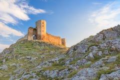 Antykwarskie forteca ruiny Enisala Obrazy Royalty Free