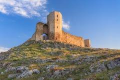 Antykwarskie forteca ruiny Enisala, Rumunia Zdjęcia Royalty Free