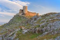 Antykwarskie forteca ruiny Enisala, Rumunia Obraz Stock