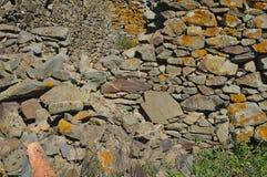 Antykwarskie Kamiennej ściany ruiny Obraz Royalty Free