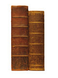 antykwarskie książki odizolowywali biel dwa Zdjęcie Stock