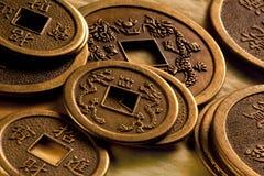antykwarskie porcelanowe chińskie monety Zdjęcia Stock