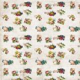 Antykwarskie ręki z kwiatu wiktoriański świstka powtórką deseniują tapetę zdjęcia royalty free