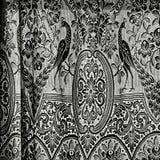 Antykwarskie zasłony w Czarny I Biały Fotografia Royalty Free