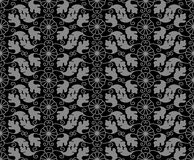 Antykwarskiego bezszwowego tła ślimakowatego vortex orientalny Japoński roun Zdjęcie Royalty Free