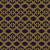 Antykwarskiego bezszwowego tła krzywy spirali orientalny krzyż round fr Fotografia Royalty Free