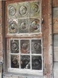 Antykwarskiego Bullseye Nadokienne tafle Miły kawałek sztuka Jeden, Szczerze fotografia royalty free