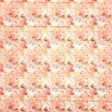 Antykwarskiego grungy rocznika stylu róż botaniczny różowy kwiecisty tło na drewnie obrazy stock