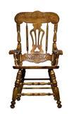 antykwarskiego krzesła frontowy widok drewniany Zdjęcie Royalty Free