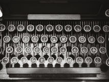 Antykwarskiego maszyna do pisania rocznika przedmiota Odgórny widok Obrazy Royalty Free