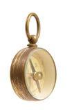 antykwarskiego mosiądza kompasu zatarty stary być ubranym Obrazy Royalty Free