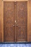 Antykwarskiego otomanu stylu Drewniany drzwi Obraz Royalty Free