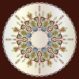 Antykwarskiego ottoman turecki deseniowy wektorowy projekt siedemdziesiąt dziewięć Obrazy Stock