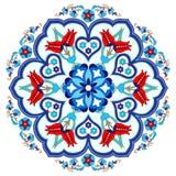 Antykwarskiego ottoman turecki deseniowy wektorowy projekt trzy Fotografia Stock