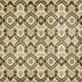 Antykwarskiego rocznika adamaszka stylu wzoru Bożenarodzeniowy Tapetowy tło Zdjęcia Royalty Free