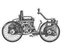 Antykwarskiego samochodu loga projekta wektorowy szablon Transport royalty ilustracja